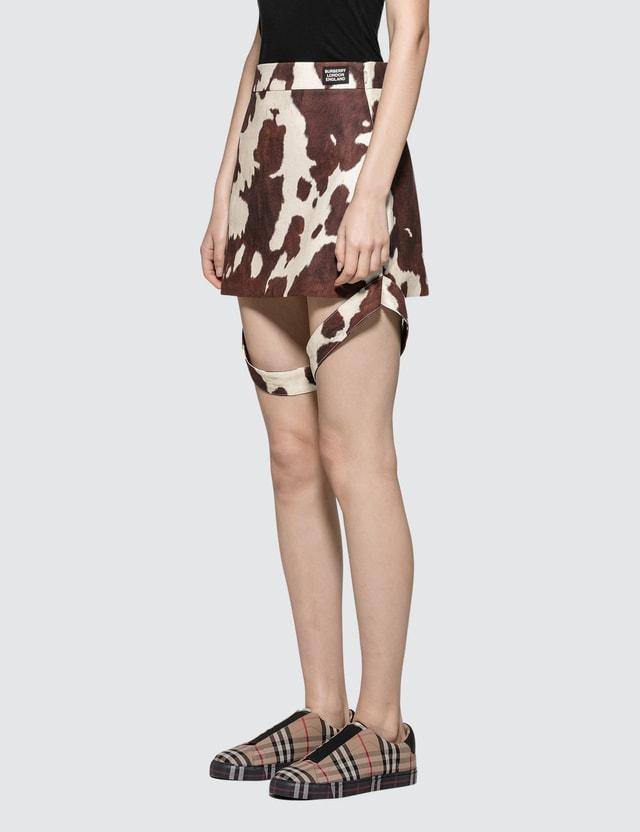 Burberry Animal Printed Mini Skirt