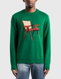 Casablanca The Art Of Sitting Knitted Sweater Picutre