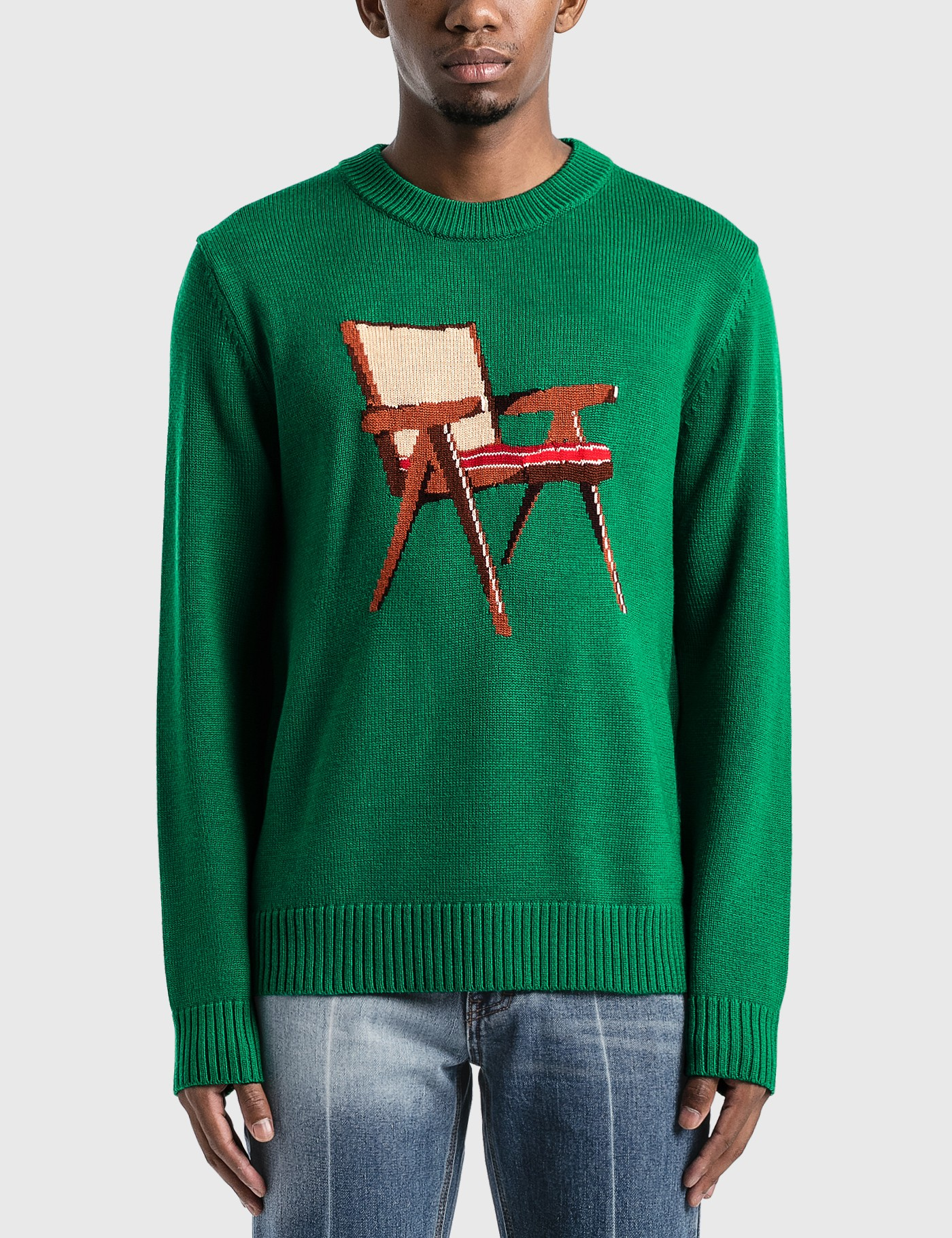 Casablanca Sweaters THE ART OF SITTING KNITTED SWEATER
