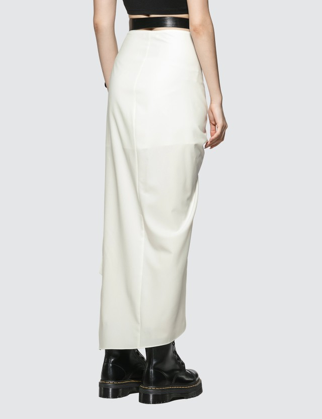 Hyein Seo Leather Belt Slit Skirt