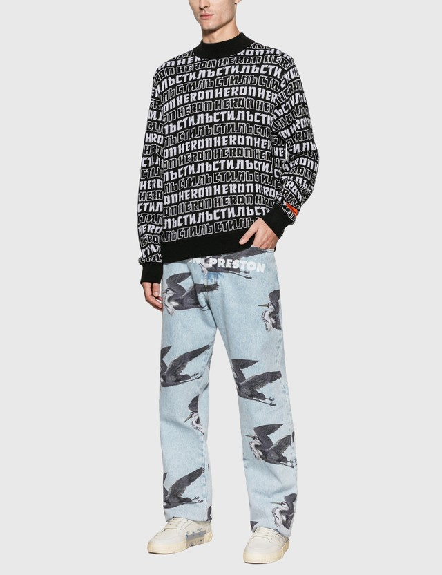 Heron Preston Heron CTNMB Sweater Black White Men