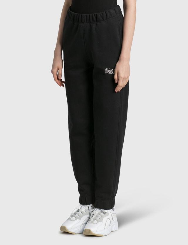 Ganni Software Isoli Elasticated Pants Black Women