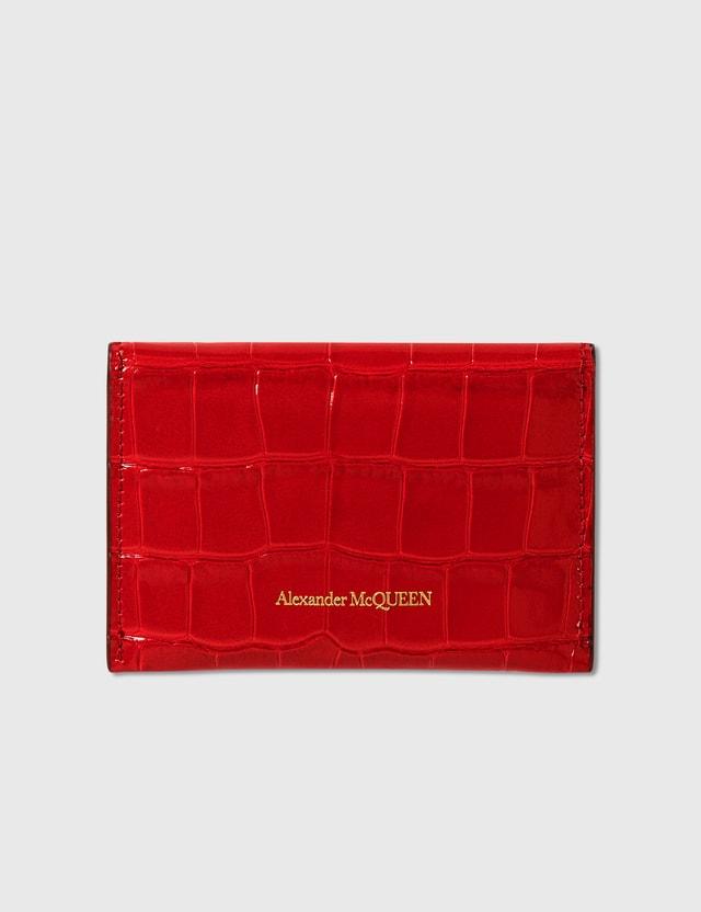 Alexander McQueen Envelope Card Holder Deep Red Women