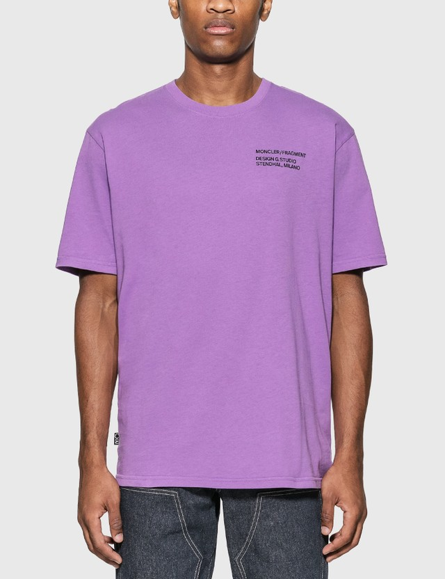 Moncler Genius Moncler Genius x Fragment Design Logo T-Shirt Purple Men