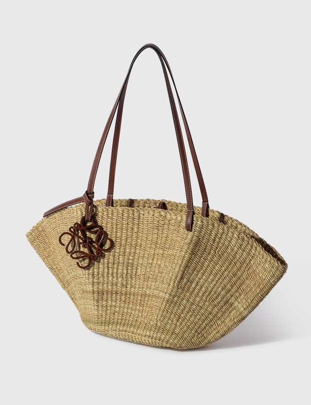 Loewe Small Shell Basket Bag Natural/pecan Women