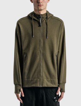 CP Company Diagonal Raised Fleece Goggle Hoodie