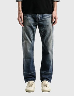 Saint Laurent Straight-Fit Jeans In Dirty Winter Blue Denim