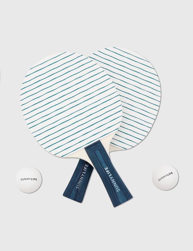 Sunnylife Play On Table Tennis Set – Nouveau Bleu Orange Life