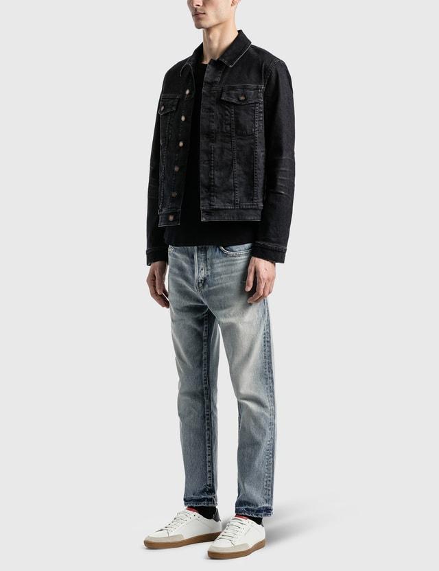 Saint Laurent Lightly Coated Denim Jacket Black Light Coated Men