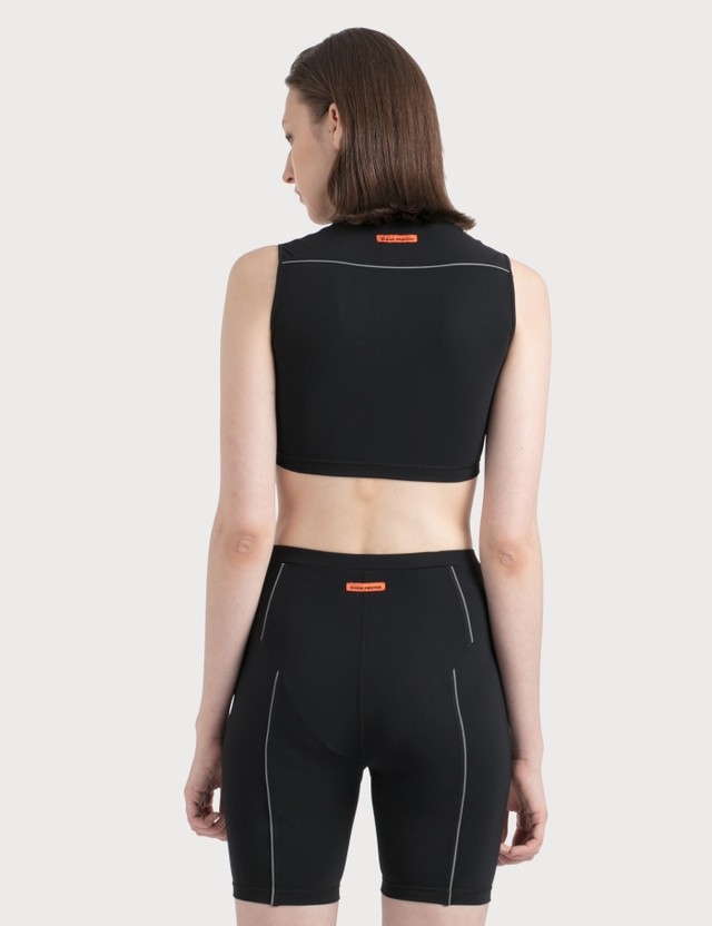Heron Preston Active Top Black Green Women
