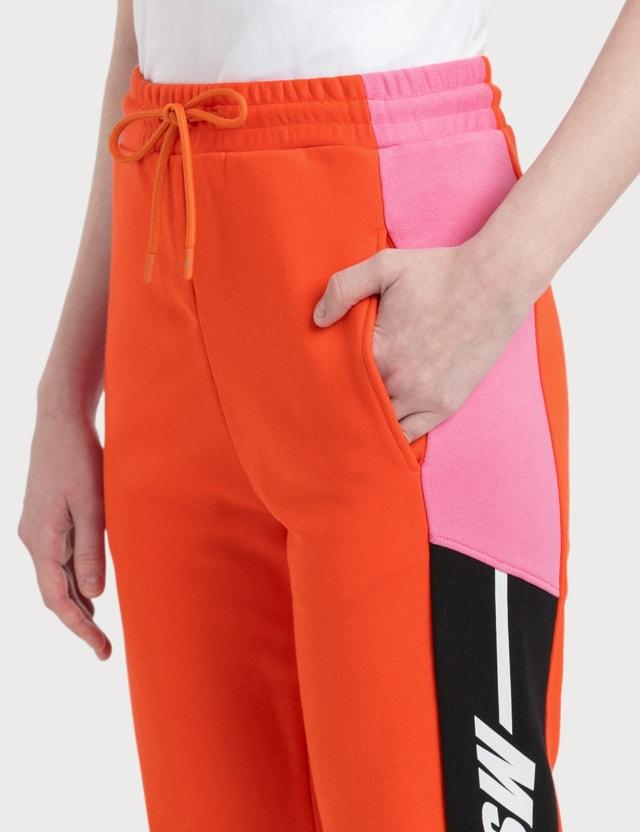 MSGM Color-Block Detailing Jogging Pants