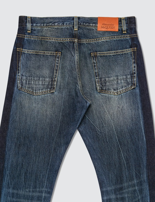 Alexander McQueen Side Tape Straight Leg Jeans