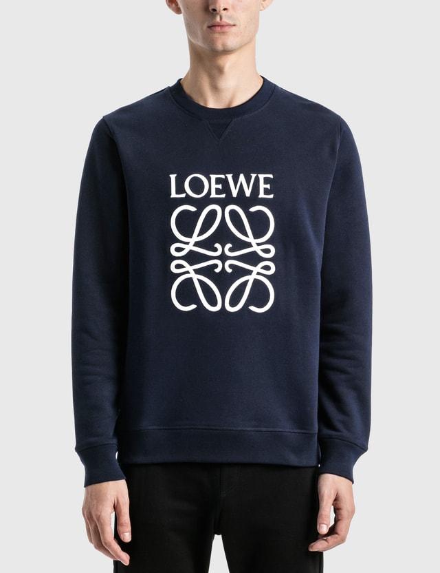 Loewe LOEWE Anagram Embroidered Sweatshirt Navy Blue Men