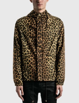 Saint Laurent Leopard-Print Windbreaker