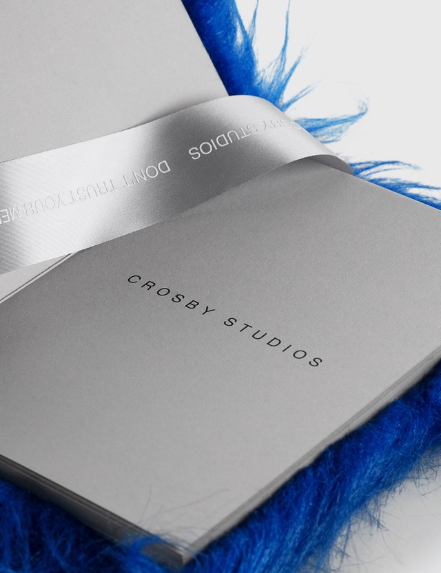 Crosby Studios Blue Furry Notebook Blue Unisex
