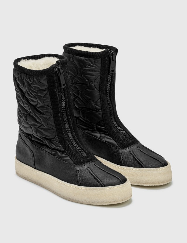 Emporio Armani R-EA Fabric Ankle Boots With Zip Black Men