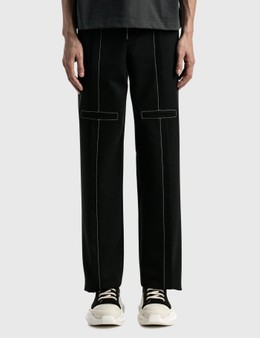 We11done Contrast Top Stitch Tailored Trousers