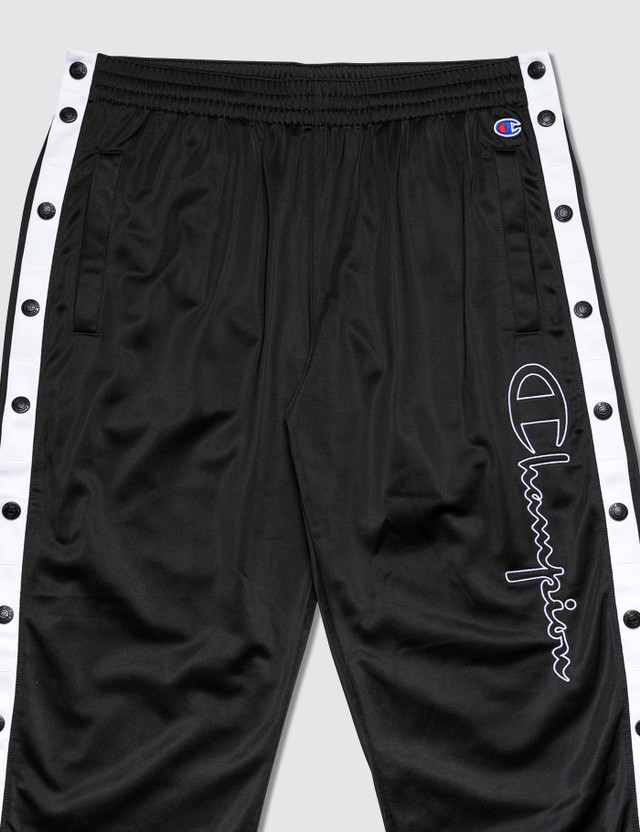 Champion Reverse Weave Track Pants With Snap Buttons
