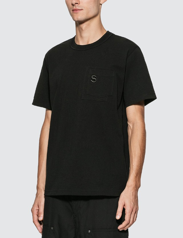 Sacai S Embroidery T-Shirt Black Men