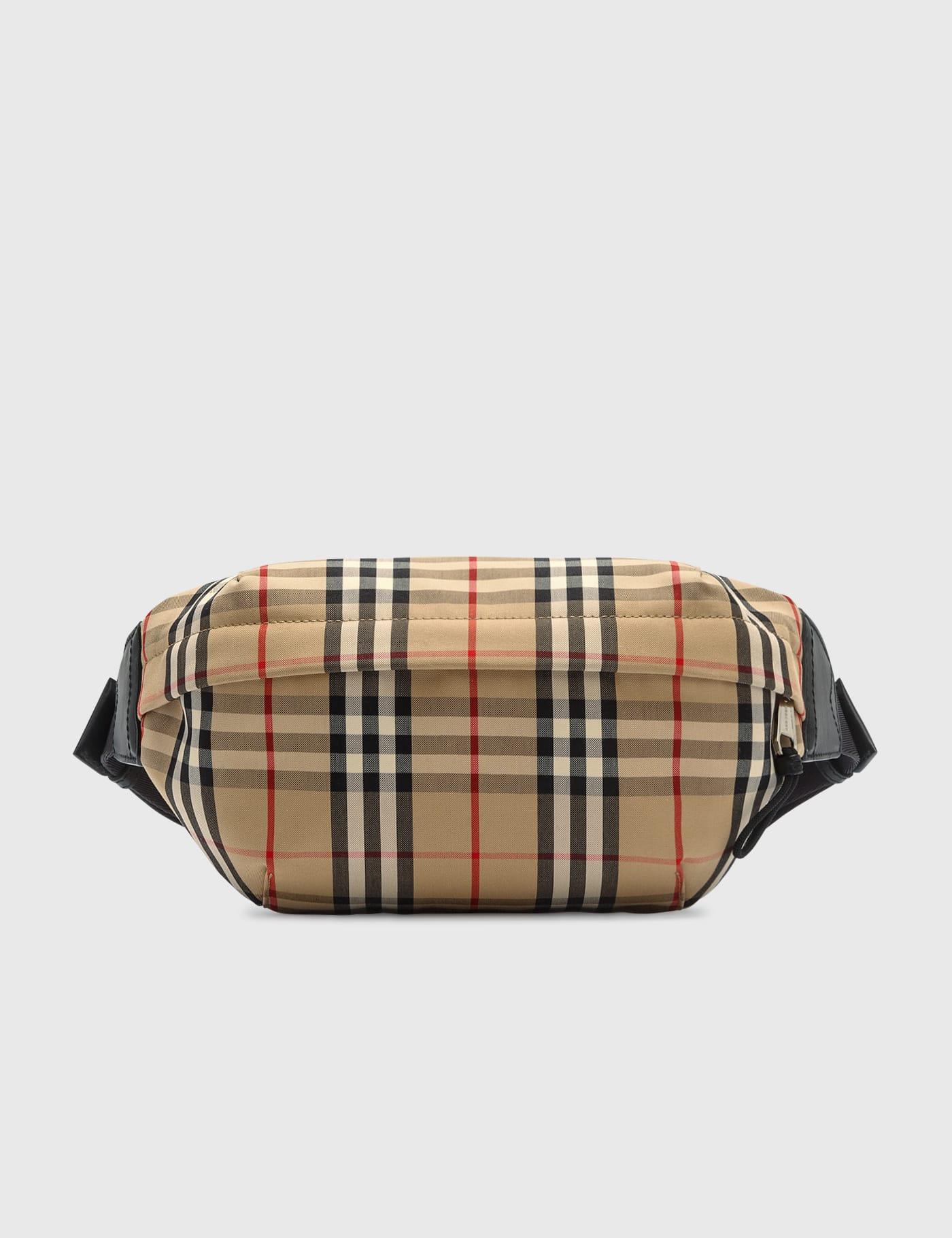 버버리 범백 Burberry Medium Vintage Check Bonded Cotton Bum Bag