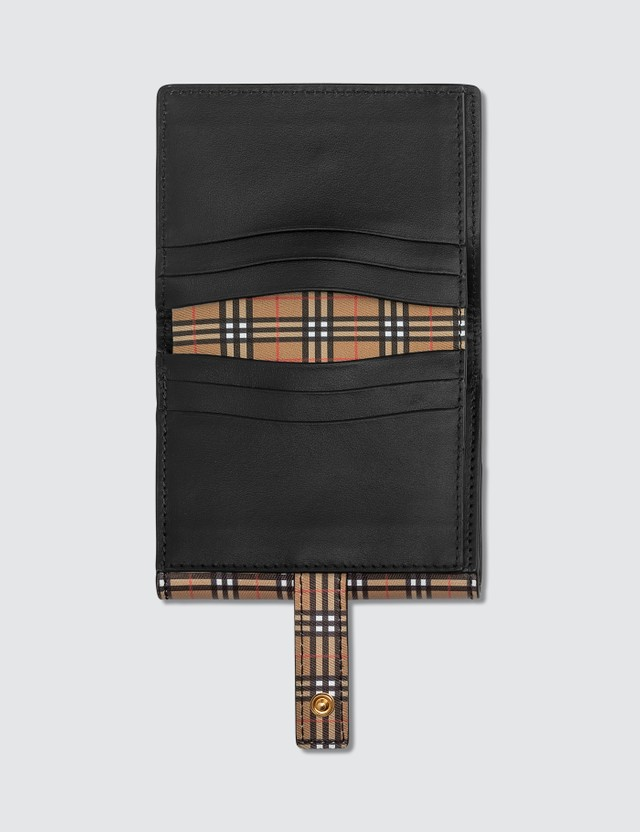 Burberry Small Scale Check and Leather Folding Wallet
