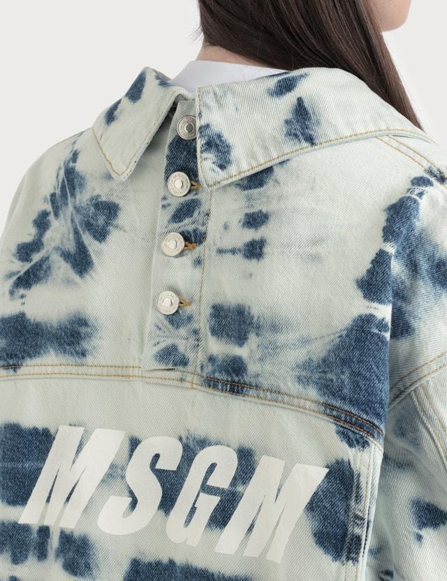 MSGM Tie Dye Denim Jacket