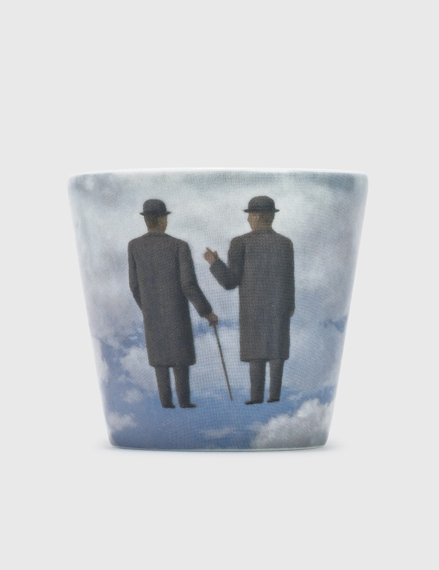 Ligne Blanche Rene Magritte's The Infinite Recognition Candle Blue Men