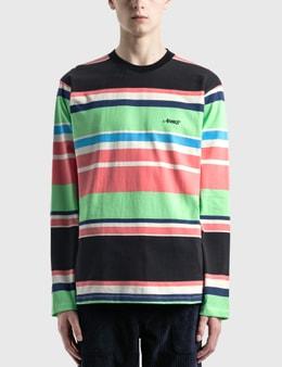Awake NY Embroidered Logo Striped Long Sleeve T-Shirt