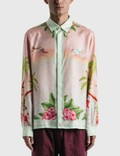 Casablanca Surf Club Midnight Print Silk Shirt Picture