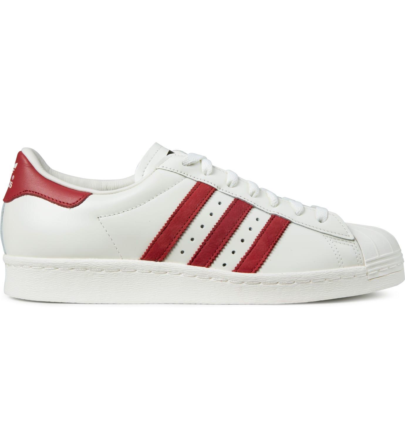 Adidas Originals Vintage White Red Superstar 80s Dlx B35982 Shoes