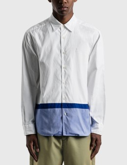 SOPHNET. Hem Paneled Regular Collar Shirt