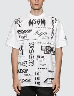 MSGM Multi Logo T-Shirt