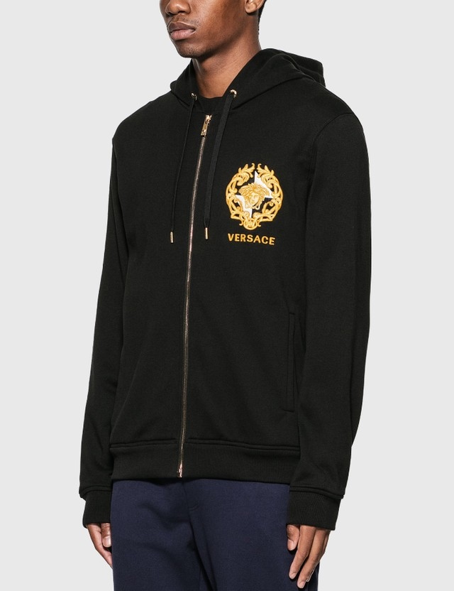 Versace Medusa Logo Hooded Jacket Nero Men