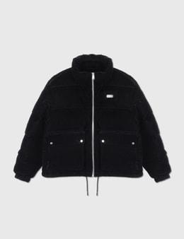Team Wang Printed Logo Velvet Down Jacket