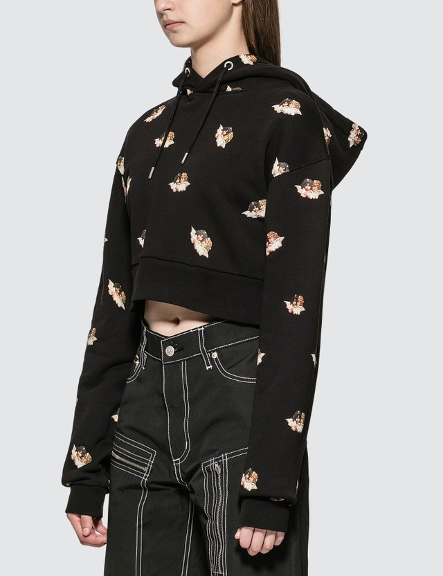 Fiorucci All Over Angels Cropped Hoodie