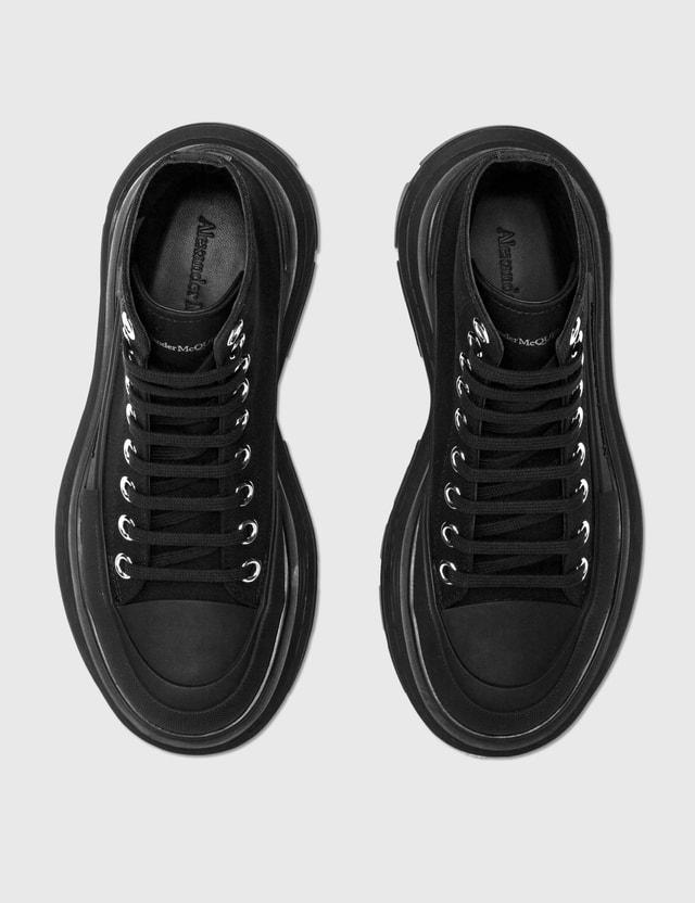 Alexander McQueen Tread Slick High Top Sneakers Black/black/black Women