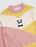 Mini Rodini Panda Knitted Wool Pullover