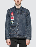 "Profound Aesthetic ""We Are Our Choices"" Dark Washed Denim Patch Jacket Picture"