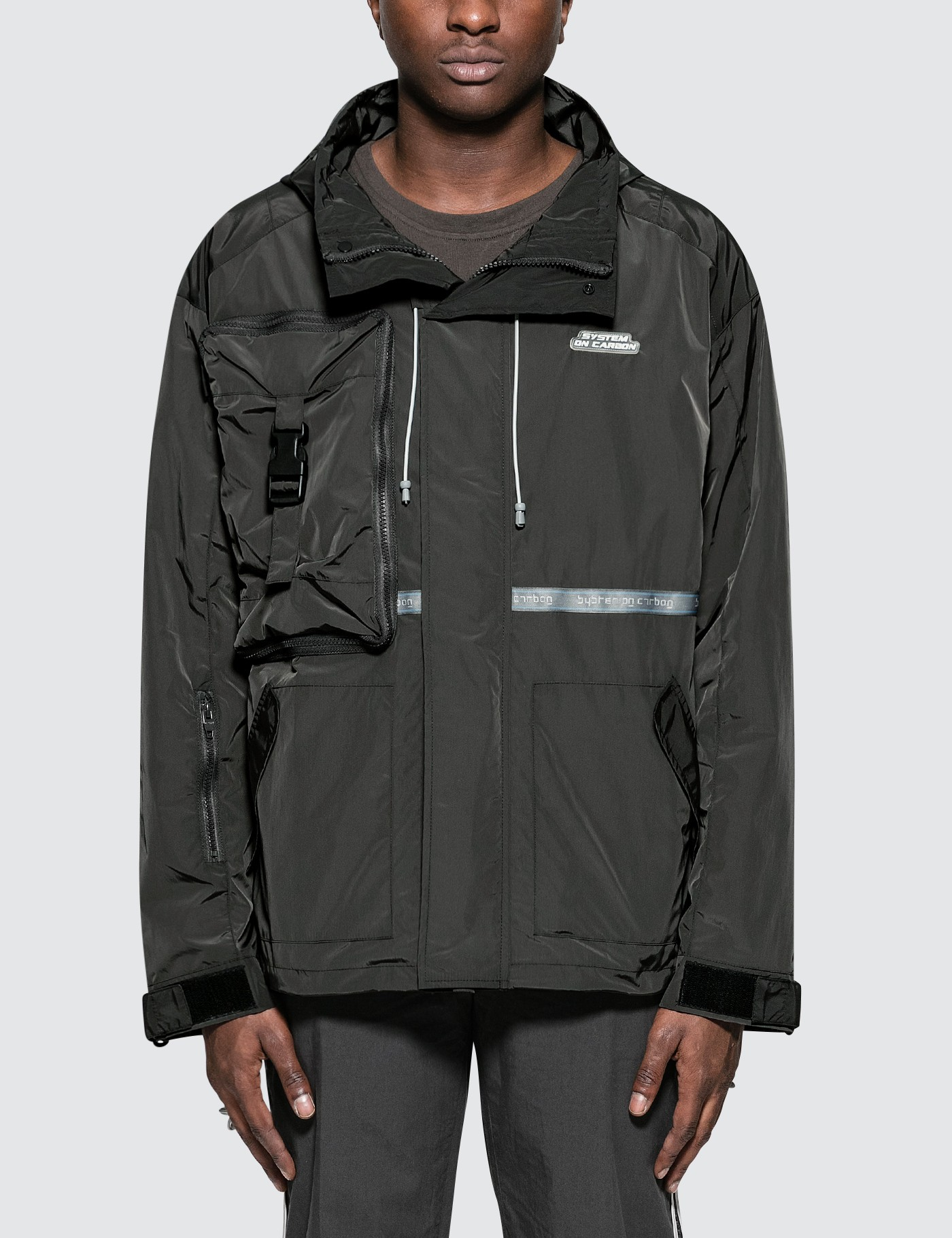 C2H4 Los Angeles Utility Concealed Pocket Data Cable Windbreaker Picture
