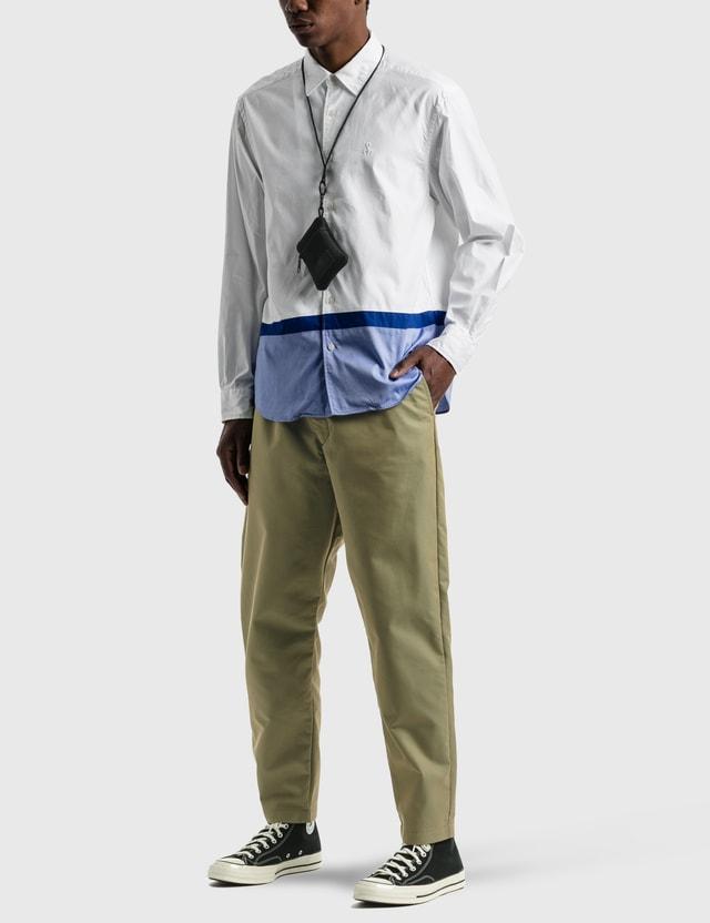 SOPHNET. Baggy Wide Tapered Easy Pants Khaki Men