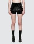 Danielle Guizio Proserpine Patent Shorts Picutre