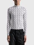 Marine Serre Second Skin Turtleneck Moon Top Picutre