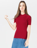 CARVEN Red High Neck Pullover Sweater Picture