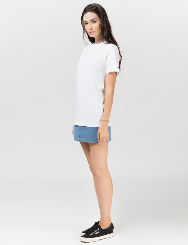 Stampd White Stacked Logo T-shirt