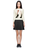 CARVEN Ecru Lurex Terry Knit Pullover Sweater Picture