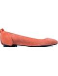 CARVEN Mandarine Escarpin Plat Noeud Flats Picture