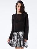 STOLEN GIRLFRIENDS CLUB Black Mean-Reno Crop Knit Top Picture