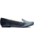 CARVEN Anthracite Sleepers Mousta Velvet Flats Picture