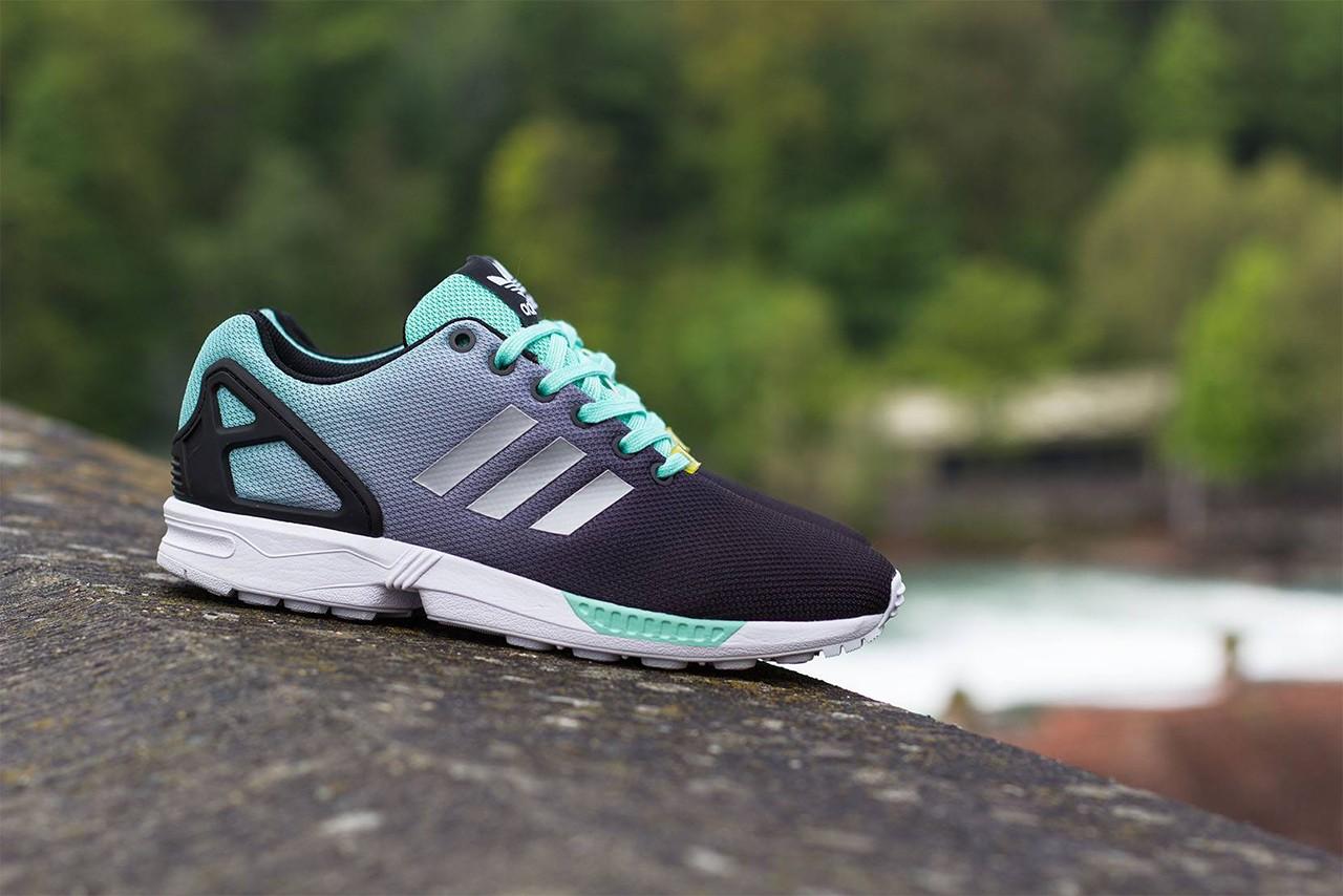 186fb2b6dbf07 adidas Originals ZX Flux Black Metallic Mint