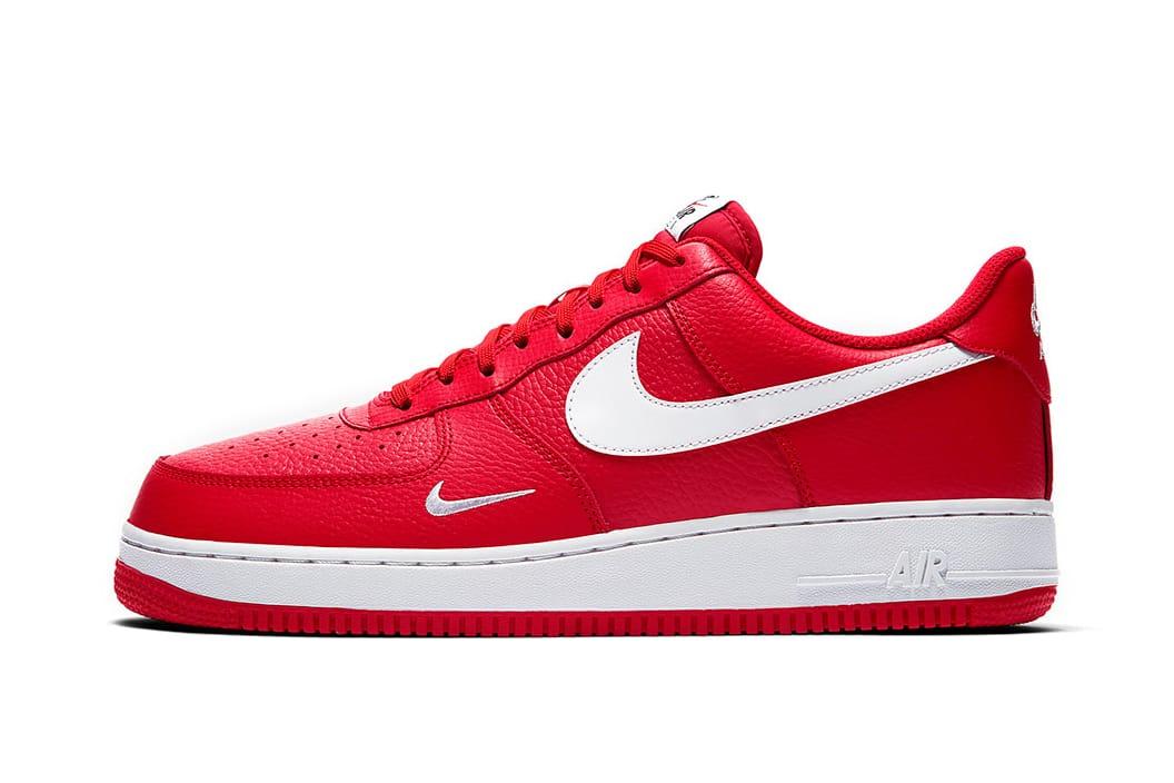 04b1f698c81 Nike Air Force 1 Low Mini Swoosh University Red | HYPEBEAST